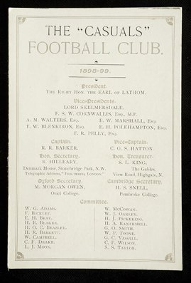 683: C.O.S. Hatton's Casuals FC printed fixture cards,