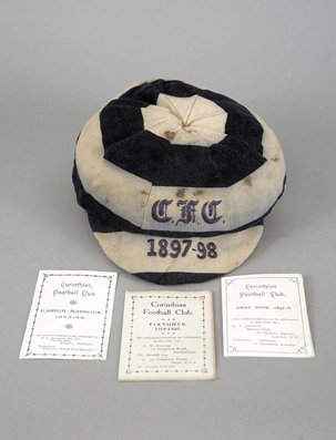 683A: A Corinthians cap awarded for the 1897-98 Tour of