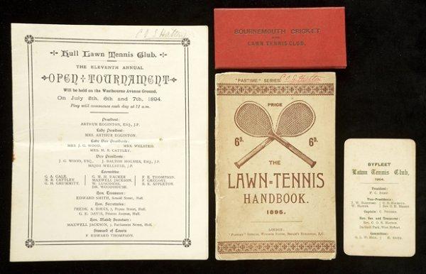 688: Various ephemera relating to C.O.S. Hatton as a te