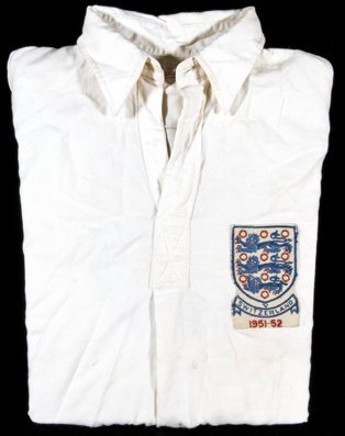 752: Nat Lofthouse's white England No.9 shirt worn in t