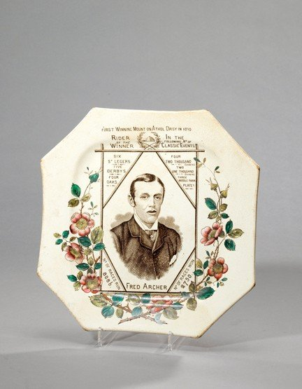 3: A Staffordshire octagonal pottery plate commemoratin