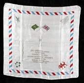 249: A boxing silk commemorating the Jim Driscoll v Spi