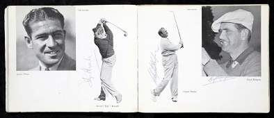 331: An autographed 1949 Ryder Cup programme, the inter