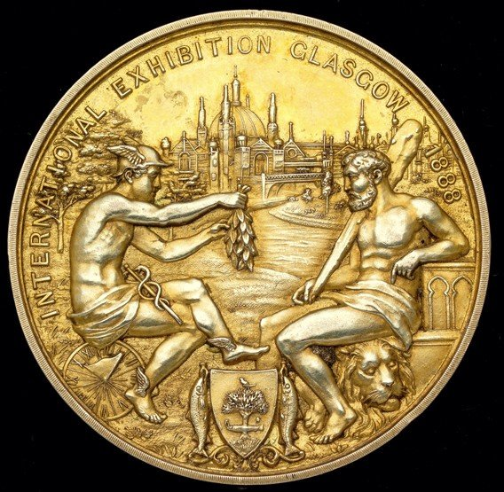 458: A rare gold plated winner's medal for the football