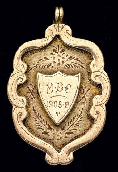 465: Stoke FC: a 9ct. gold medal season 1908-09, the ob
