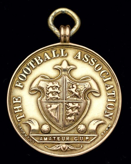 466: A 9ct. gold F.A. Amateur Cup runners-up medal seas