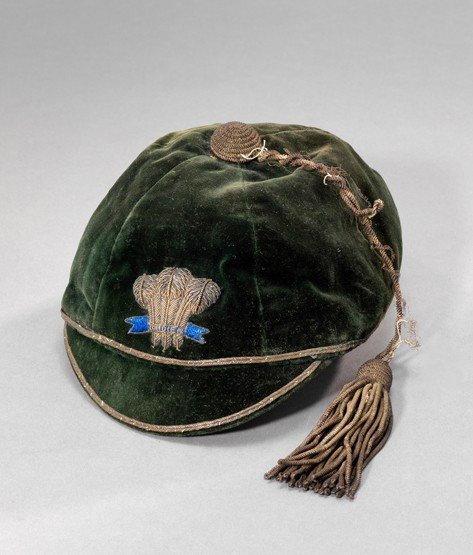 467: A Wales international cap circa 1910, green velvet