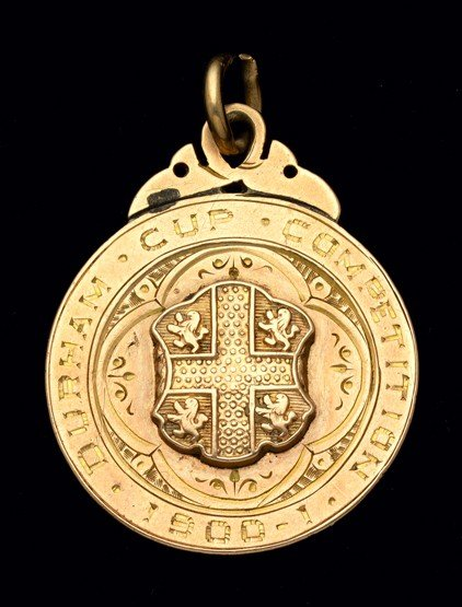 470: A 9ct. gold Durham Cup winner's medal 1900-01 won