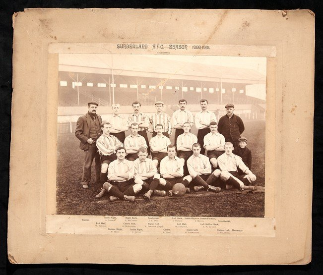 477: A period photograph featuring Alf Common and the S