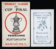 935: Two 'pirate' F.A. Cup final programmes, Blackburn