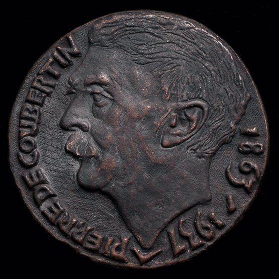 4: A Pierre de Coubertin memorial medal, French, in bro