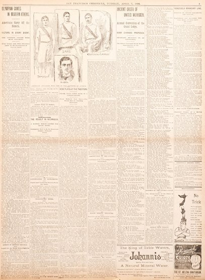 9: An original page from the San Francisco Chronicle da
