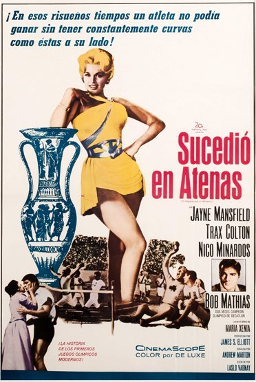 18: A movie poster for 'Sucedio en Athenas' [It Happene