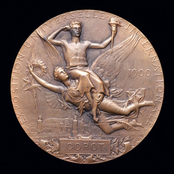 23: A 1900 Paris Olympic Games participation medal issu