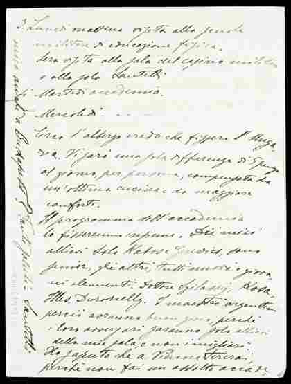 137: An autographed manuscript letter from the Italian