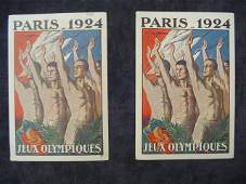 143: Two 1924 Paris Olympic Games postcards, both portr