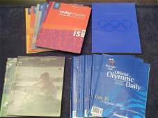 489: 18 official Olympic Games programmes, 2 for Montre