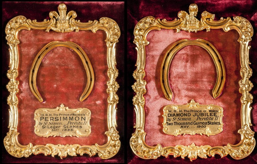 4: A pair of royally presented racing plates worn by Th