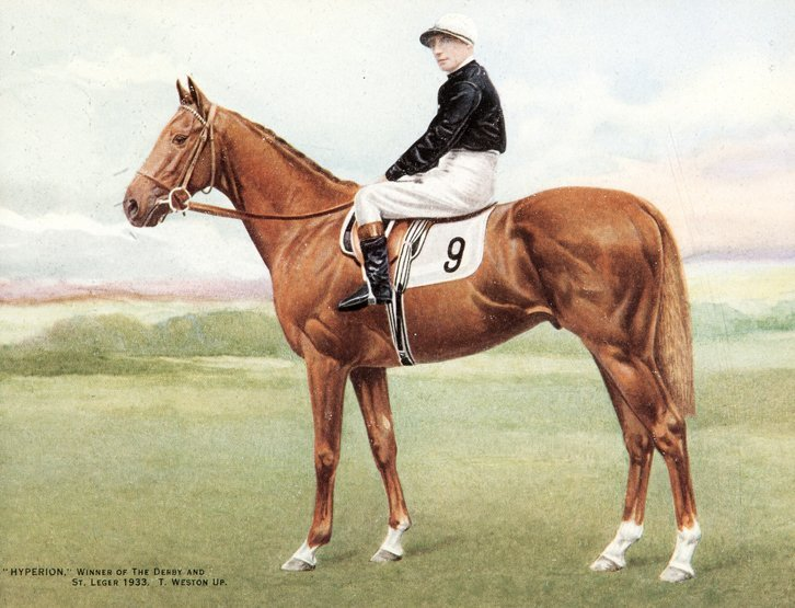 16: Hand coloured photograph of Hyperion with Tommy Wes