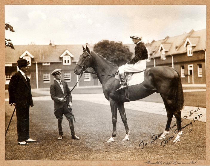 17: Two photographs of Hyperion with Tommy Weston up th