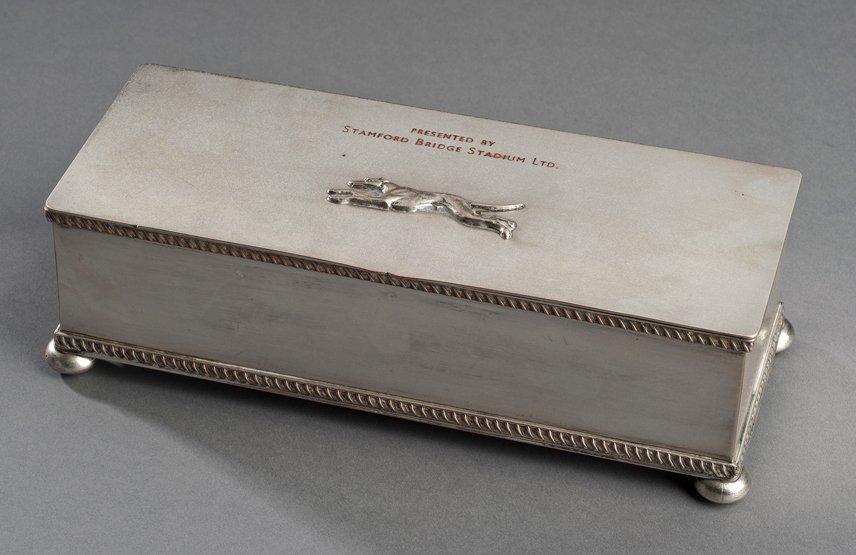 22: A greyhound racing trophy from Stamford Bridge circ
