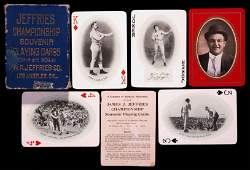 245: Jeffries Championship Souvenir Playing Cards, copy