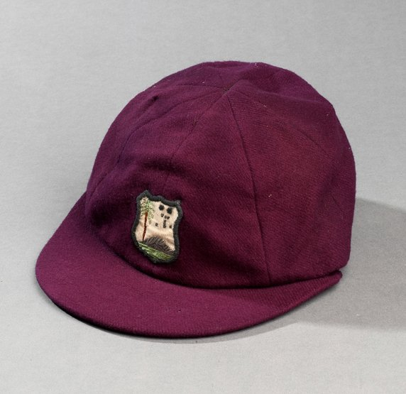 285: A West Indies Test cricket cap, maroon by Simpson
