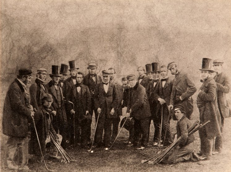 325: A photographic group of notable St Andrews golfers