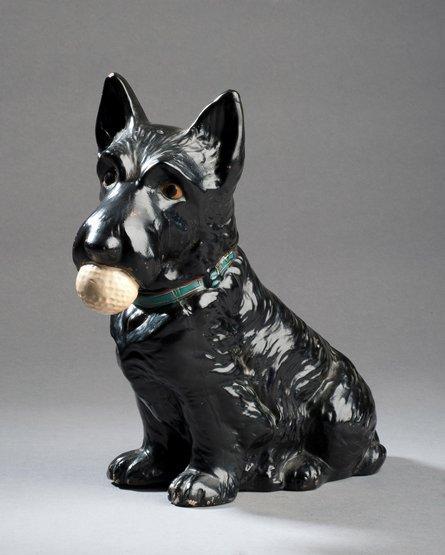 331: A Sylvac pottery Scottie dog advertisement figure