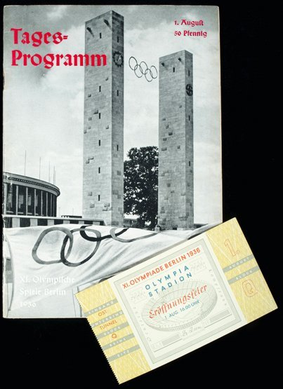 404: Programmes and tickets for the 1936 Berlin Olympic