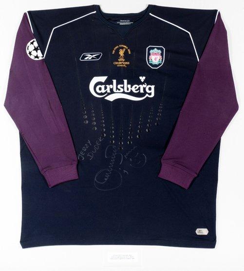 659: The shirt worn by Liverpool goalkeeper Jerzy Dudek