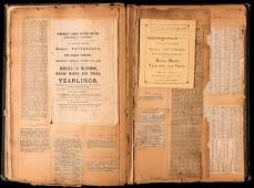 horse racing & hunting interest, a scrapbook compiled