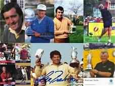 Signed golf photos cards etc i Colin Montgomery