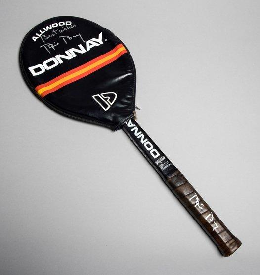 A Bjorn Borg signed Donnay Allwood tennis racquet,