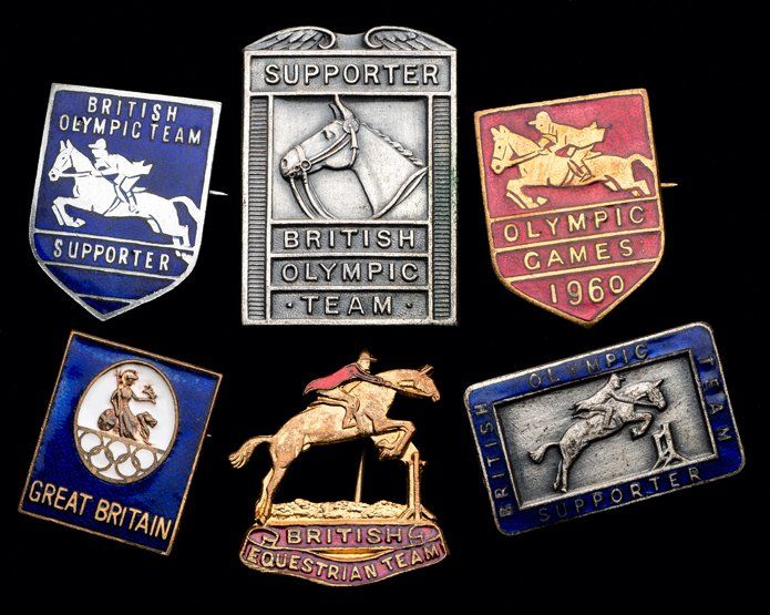 A collection of six Great Britain Olympic Equestrian
