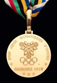 A Grenoble 1968 Winter Olympic Games gold winner's