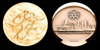 Two Montreal 1976 Olympic Games commemorative medals,