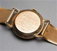 The gold watch presented by Tottenham Hotspur to club