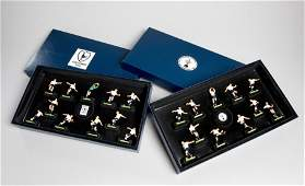 Two Football Action Series of painted lead figures of