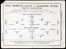 An extremely scarce and early F.A. Cup Final programme