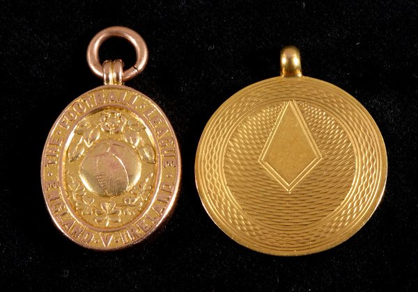 3: A 9ct. gold Inter League representative medal 1932,