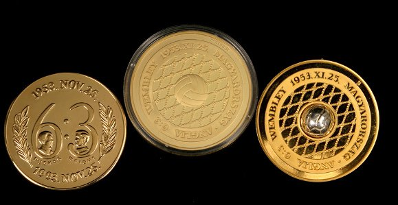 5: A group of three medals minted by the Hungarian F.A.