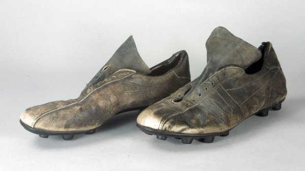 9: A pair of Sir Geoff Hurst's football boots, sold wit