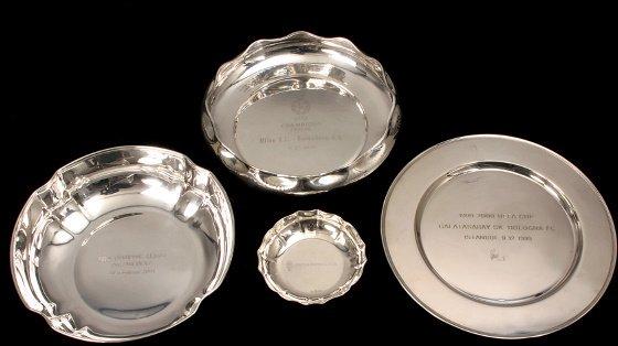 19: Four Italian silver presentations, all with Italian