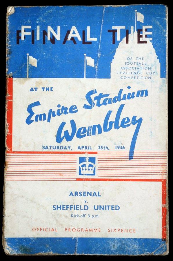 168: F.A. Cup final programme Arsenal v Sheffield Unite
