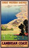 A 1930s Great Western Railway Poster for the Cambrian