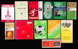 Moscow 1980 Olympic Games programmes and other official