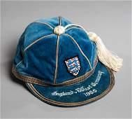 Sir Geoff Hurst's England international debut cap for