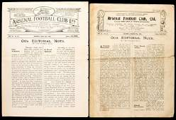 Two programmes for representative matches at Arsenal in