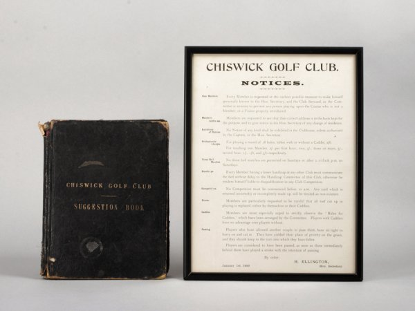 23: The Chiswick Golf Club suggestion book, containing